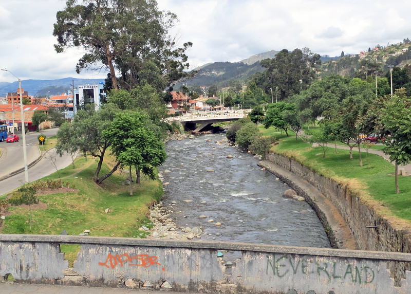 We took a bus tour of Cuenca today.   There are three rivers in Cuenca; Rio Milchichig, Rio Tomebamba and Rio Yununcay.  This is Rio Yununcay.