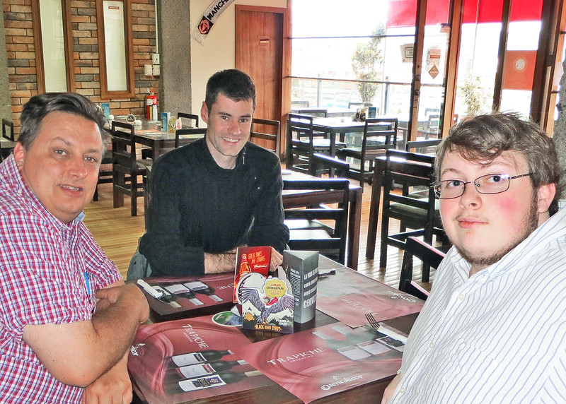 """8/24/15 - Common Grounds where guest chef, Dave Johnson made his """"world famous"""" Shepherd's Pie.  It was a treat for all where were there to enjoy.  The guest chef on the left and son, Andrew, on the right."""