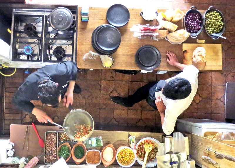 8/9/15 - Sunday brunch at Restaurante Trastevere with chef Massimo Panelli.  Honorato Vasquez 6-26 y Hermano Miguel.