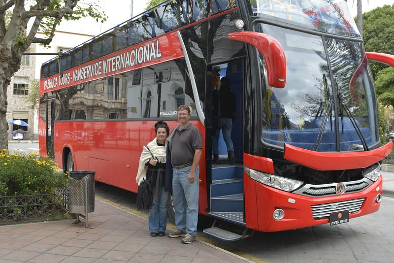 6/18/15 - Kara Shea and Jim after ride on tour bus.