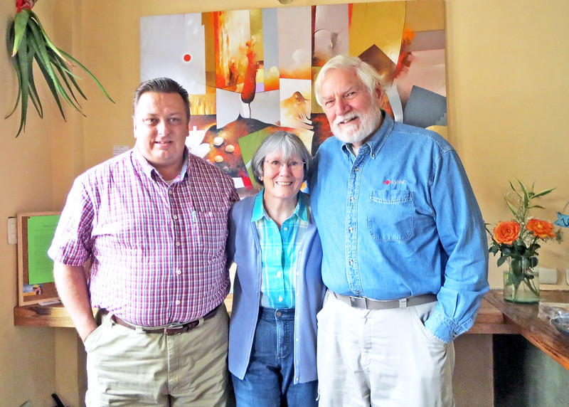 """Dave Johnson, Susan and Mike.  <br /> <br /> We first met Dave in Florida in 2013 at a workshop he was presenting on publishing community magazines.  He has since moved to Cuenca and has published a magazine called """"Cuenca Expats"""""""