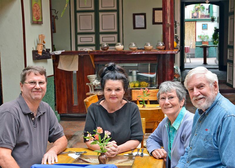 6/18/15 - Jim, Kara Shea, Susan and Mike at Quinoa Restaurant