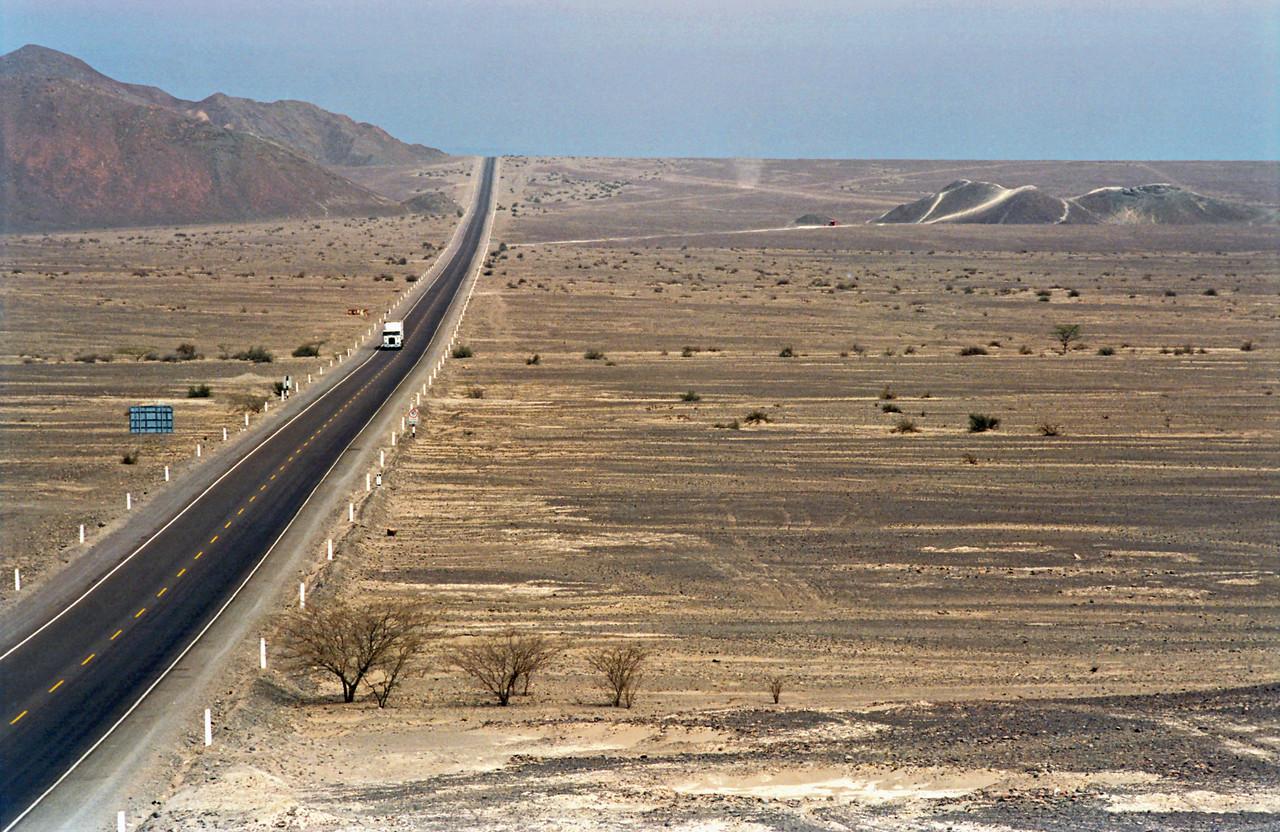 Panamericana Highway near Nazca, Peru