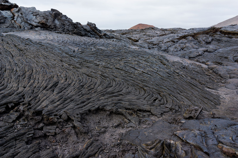 Lava fields at Santiago Island