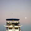 Ecoventura's M/Y Letty with a full moon.