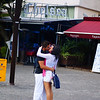 "A couple passionately kisses in the middle of a square - Quito, Ecuador.  Snogging and the embrace of two lovers in Quito, Ecuador. <a href=""http://nomadicsamuel.com"">http://nomadicsamuel.com</a>"