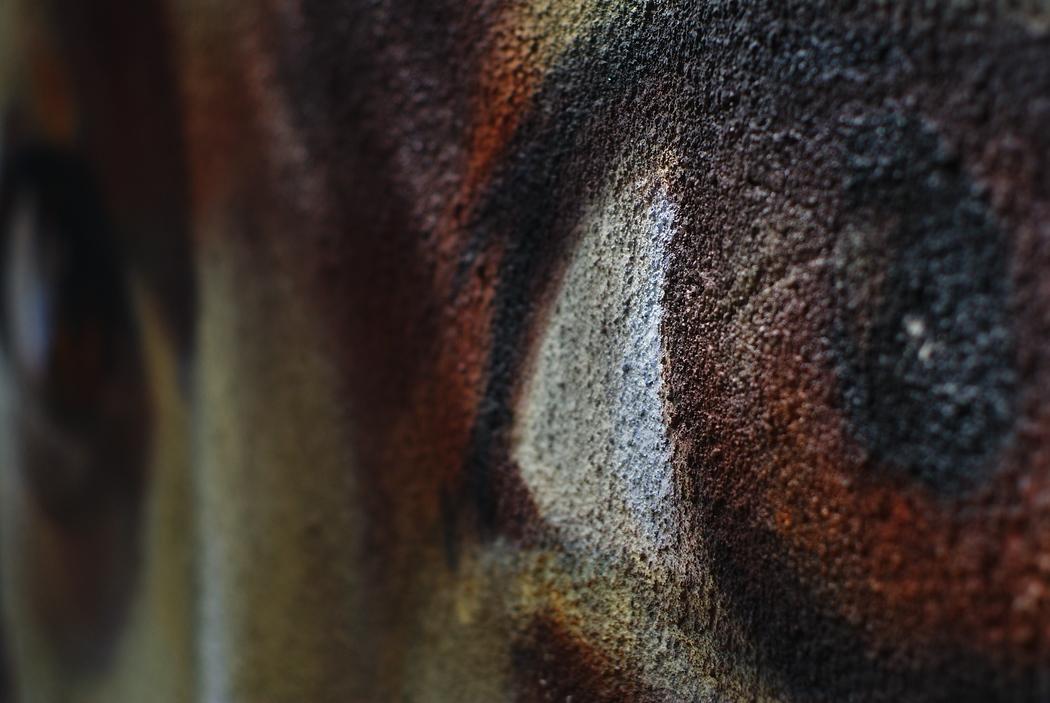 Intense eyeballs graffiti found in Quito, Ecuador.  This is a travel photo from Quito, Ecuador.