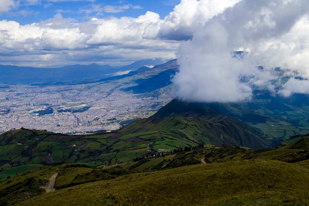 View Over City of Quito from Cruz Loma Outlook.