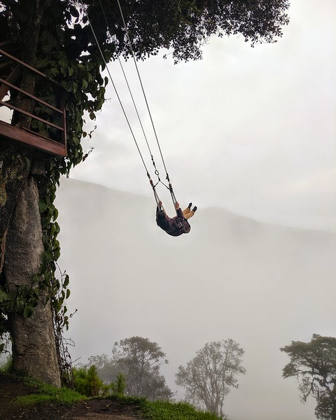 The Swing at the End of the World. La Casa del Arbol, Ecuador.