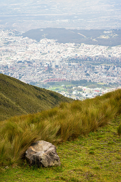 View from TelefériQo, Quito, Ecuador.