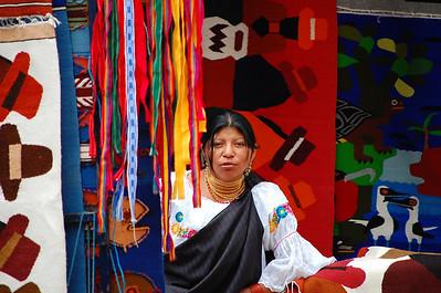 Local woman, Otavalo Market, Ecuador.