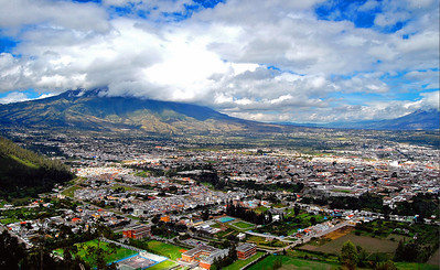 High Angle View of City of Ibarra, Ecuador.