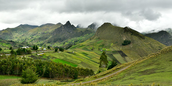 Jagged mountains of Quilotoa