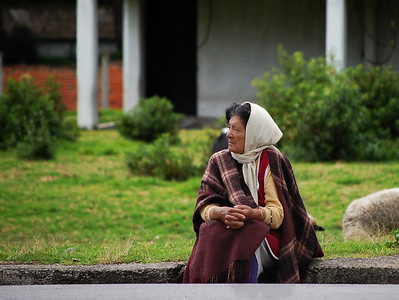 An Old Lady By The Road, Ecuador.