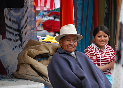 Happy Faces Of Ecuadorian, Otavalo Market.