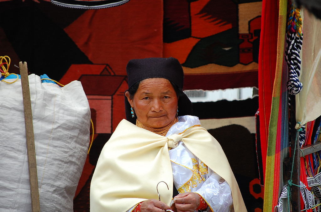 The Old Lady at Otavalo Market.
