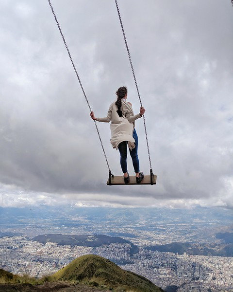 Swing at the top of TelefériQo.