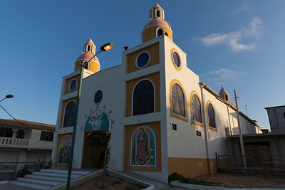 Focal point of town; the Catholic Church.