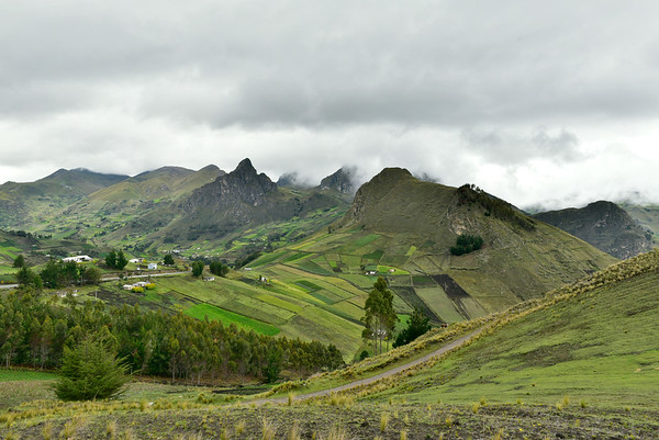 Gorgeous rich soil and mountains in Quilotoa
