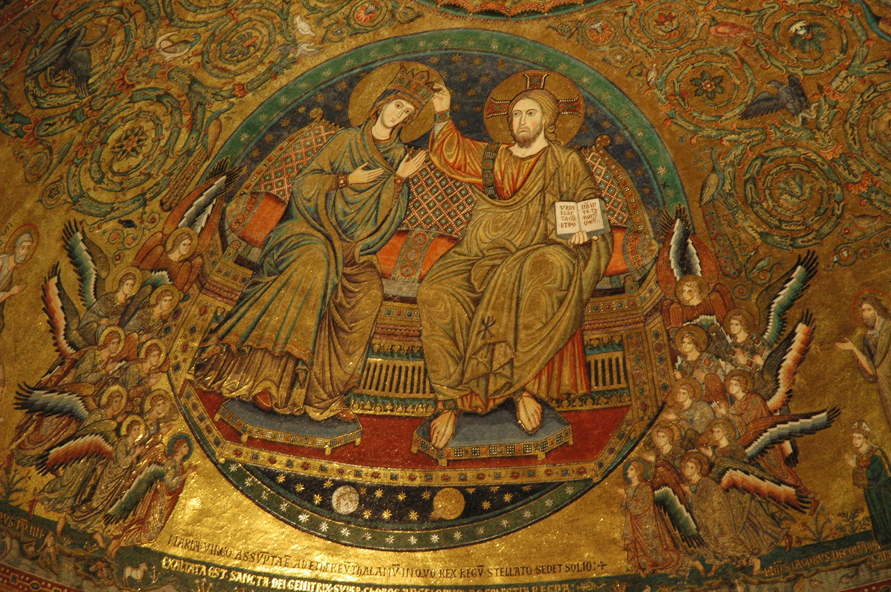 Mosaic above the altar at the Basilica of S. Maria Maggiore, Rome.