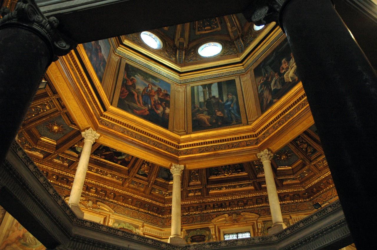 Artwork in historic Roman basilicas is plentiful.  Many are mosaics.