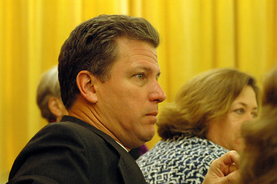 The Rev. Steven Loy, Las Cruces, N.M., listens to dicussion Feb. 15 in Geneva.