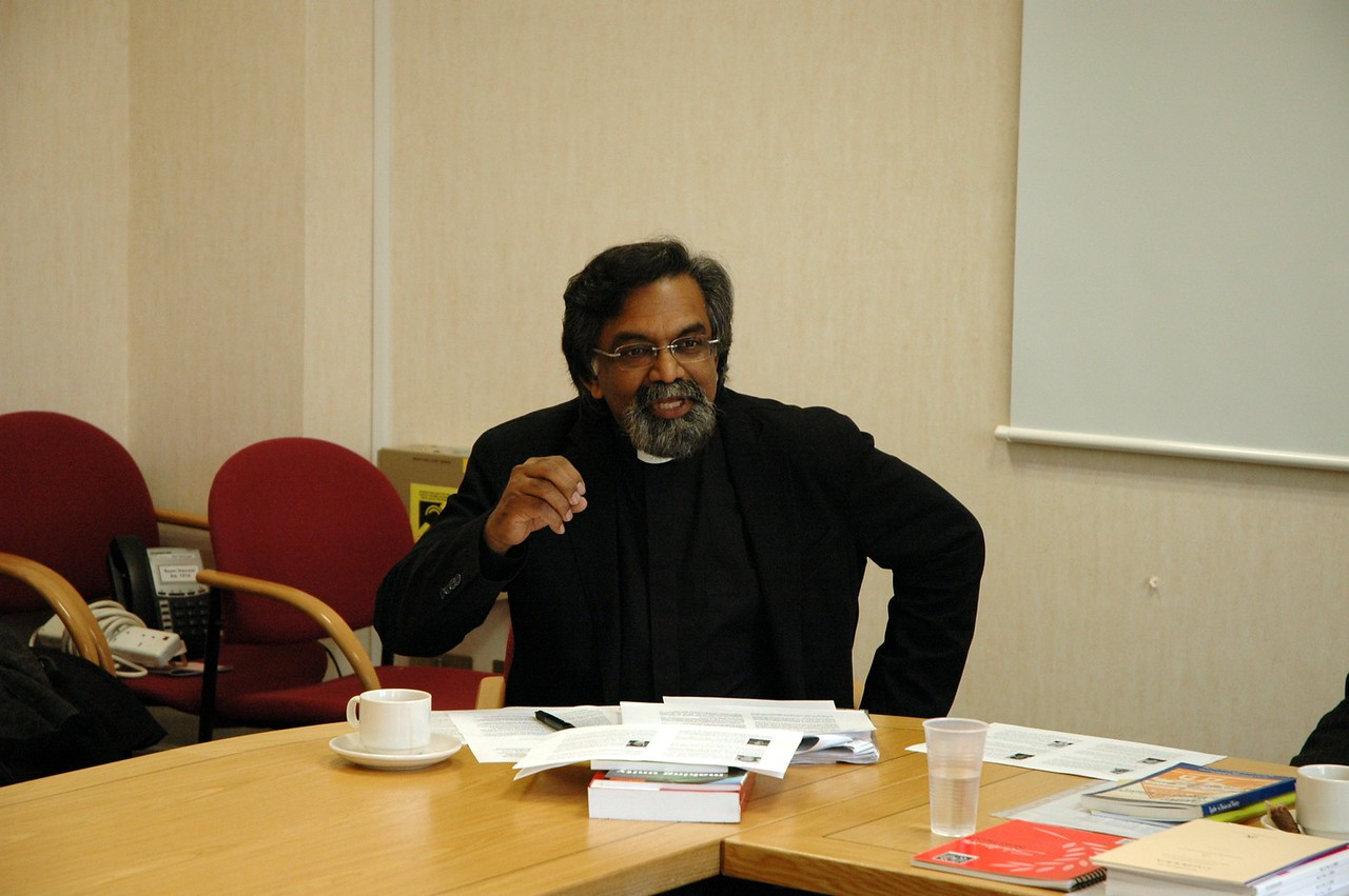 The Rev. Dr. Leslie Nathaniel, European secretary and deputy secretary for ecumenical affairs, The Church of England, was among those who addressed the ELCA delegation in london Feb. 5.