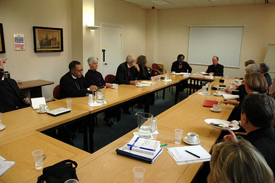 The ELCA delegation met with officials of The Church of England in London Feb. 5.