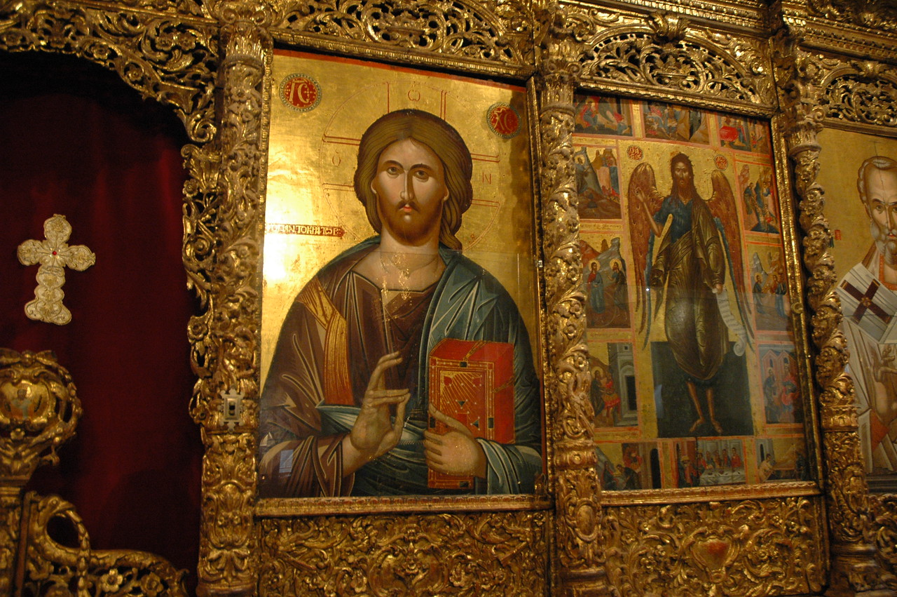 Icon in the chapel of the Theological School of Halki (Turkey).