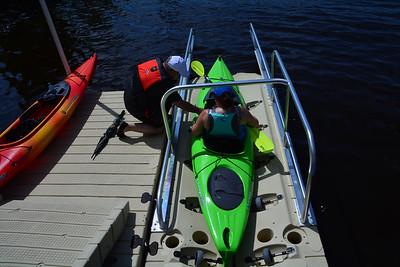 Ed Michelle kayaking