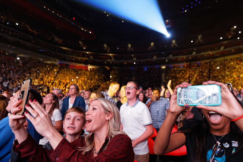 . Ed Sheeran  live at Little Caesars Arena on 9-27-2017.  Photo credit: Ken Settle