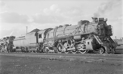 2018.15.N85.6385--ed wilkommen 116 neg--C&O--steam locomotive 2-8-2 K4 1177--Chicago IL--1952 0810--