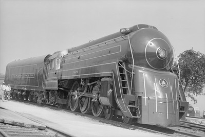 2018.15.N99D.7884--ed wilkommen 6x9 neg--B&O--steam locomotive 4-6-2 5304 (streamlined)--location unknown--no date