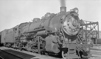 2018.15.N99D.7880--ed wilkommen 116 neg--B&O--steam locomotive 2-8-2 4566--East St Louis IL--1953 0905