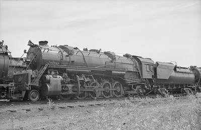 2018.15.N99D.7887--ed wilkommen 6x9 neg--B&O--steam locomotive 2-10-2 6168--location unknown--no date
