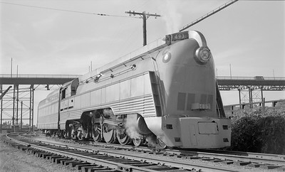 2018.15.N85.6383--ed wilkommen 116 neg--C&O--steam locomotive 4-6-4 493 (streamlined)--Richmond VA--1952 1000