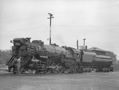 2018.15.N85.6385D--ed wilkommen 3x4 neg--C&O--steam locomotive 2-8-2 1193--location unknown--no date
