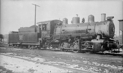 2018.15.N69.5452Q--ed wilkommen 116 neg--CB&Q--steam locomotive 0-6-0 G-5A 520--location unknown--no date