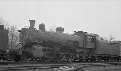 2018.15.N69.5463M--ed wilkommen 116 neg--CB&Q--steam locomotive 4-6-0 R-5 2053 (retired)--Downers Grove IL--1953 0302