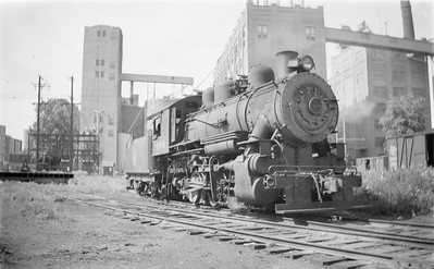 2018.15.N67A.3575--ed wilkommen 116 neg--CGW--steam locomotive 0-6-0 469--Minneapolis MN--1945 0729
