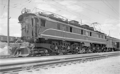 2018.15.N68D.4879--ed wilkommen 116 neg--CMStP&P--electric locomotive E-10--Butte MT--1947 0906