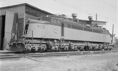 2018.15.N68D.4885--ed wilkommen 116 neg--CMStP&P--electric locomotive E-20--Harlowton MT--1968 0800
