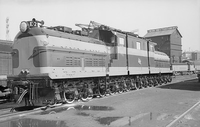 2018.15.N68D.4869--ed wilkommen 6x9 neg--CMStP&P--electric locomotive E-2--Milwaukee WI--no date