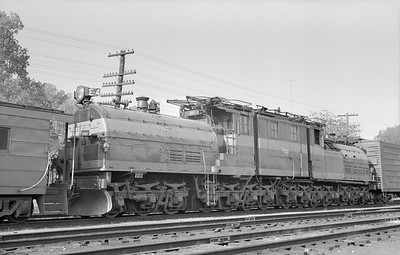 2018.15.N68D.4875--ed wilkommen 6x9 neg--CMStP&P--electric locomotive E-4--Savanna IL--1954 0500