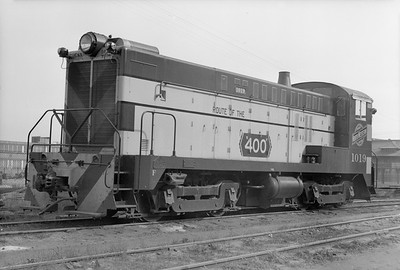 2018.15.N65C.3415--ed wilkommen 6x9 neg--C&NW--diesel locomotive BLW 1019--West Milwaukee WI--no date