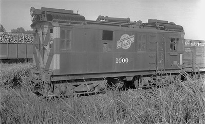 2018.15.N65C.3411--ed wilkommen 116 neg--C&NW--oil-electric locomotive IR 1000--Green Bay WI--no date