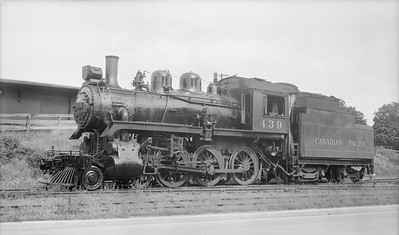 2018.15.N83.6330X--ed wilkommen 116 neg [Stan Mailer]--CP--steam locomotive 4-6-0 D4G 439--location unknown--no date