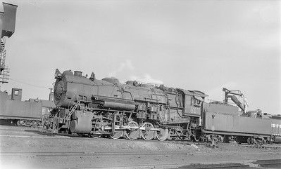 2018.15.N76.6013--ed wilkommen 116 neg--DM&IR--steam locomotive 0-10-0 S5 91 taking water--Proctor MN--no date