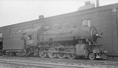 2018.15.N76.6015M--ed wilkommen 116 neg--DM&IR--steam locomotive 2-8-0 K 191--Mitchell MN--1955 0617
