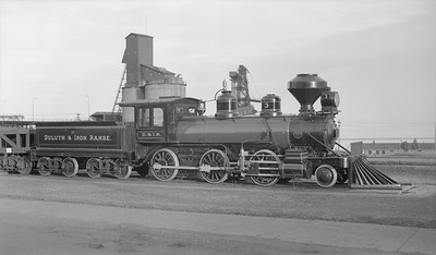 2018.15.N76.6008A--ed wilkommen 116 neg--DM&IR--steam locomotive 2-6-0 3 on display--Two Harbors MN--no date